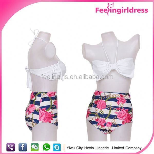 China Wholesale Hot New Sixe Girl India Fashion Retro High Waist Bikini Ch