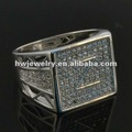 silver925 / brass micro pave CZ ring