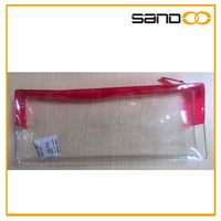 Wholesale stock small transparent pvc cosmetic bag for women
