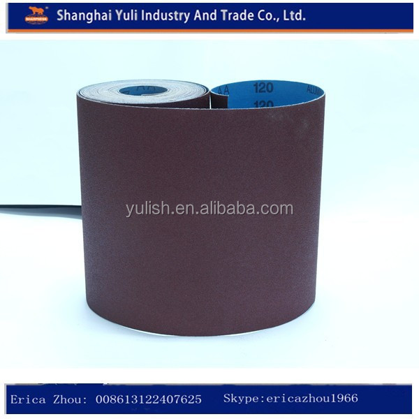 High quality heavy hard alumina sand abrasive belt for metal