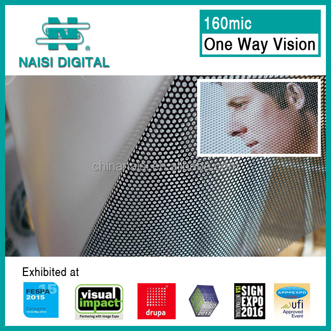 160mic window covering one way vision plastic film for advertising