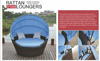 resin wicker patio furniture outdoor rattan oval bed