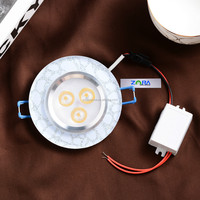 2015 New Type 3W Crystal Recessed Led Downlight crystal ceiling lighting