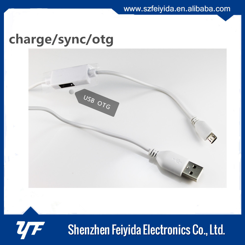 factory price flat micro usb cable usb otg cable with usb flash drives