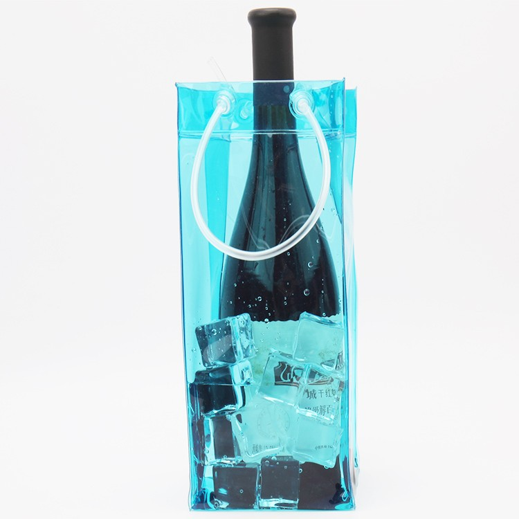 Factory Custom Cheap Waterproof Foldable plastic ice bag for wine