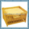 Antique durable wicker new soft pet dog house with handmade