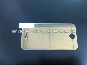 Discount mobile phone parts tempered glass screen protector for Iphone 4