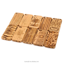 New products Factory outlet custom engraving wood bamboo cell phone case for iPhone SE 5S