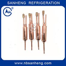 Refrigerant Three Way Welding Copper Filter Drier With Access Valve