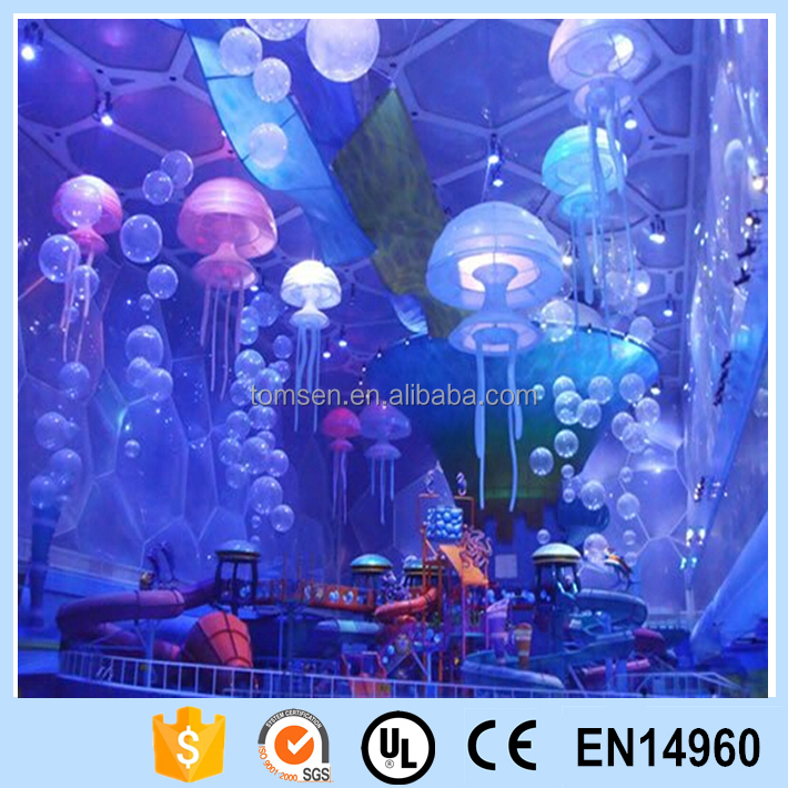 Hot sale inflatable floating funny led light jellyfish decoration