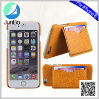 Factory made 100% good quality leather case for Iphone 6 mobile phone wallet case