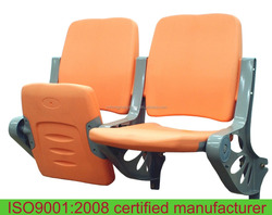 Foldable plastic stadium seats rotational molded high quality stadium seats with backrest