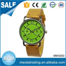 Sport style custom dial private label genuine leather strap ladies watches