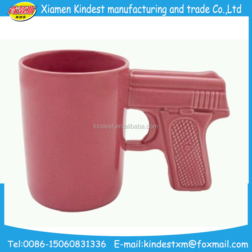 Handamde Promotional Gun Shape Ceramic Tea Coffee Mug For