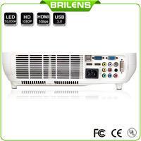 China led projector with battery used 4d home theater projector shutter 3D outdoor digital projectors