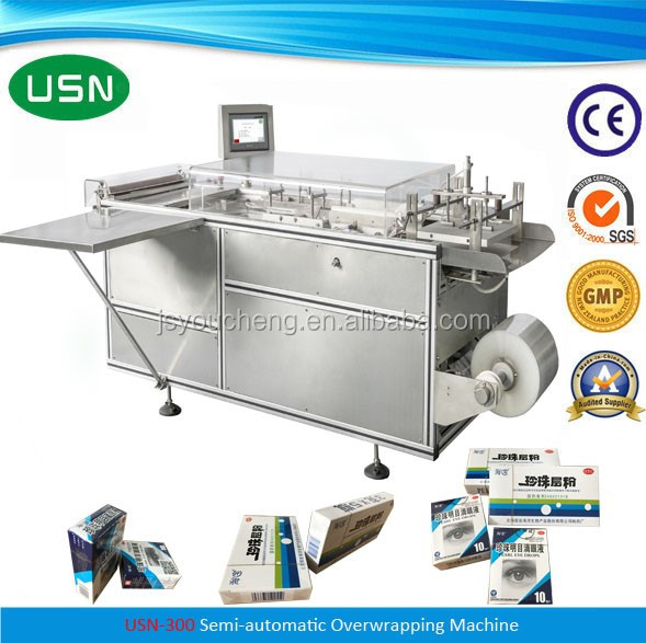 Semi automatic manual tea bag box packing machine