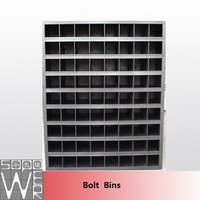SOPOWER black 72 hole metal spare parts cabinet