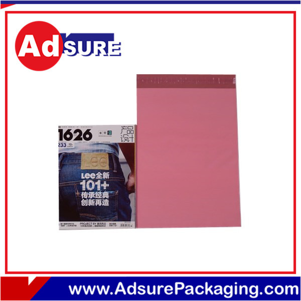 Plastic size a5 opaque sealed envelope/white grey custom plain and print plastic mail bags/custom garment bags wholesale