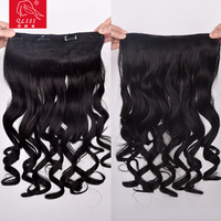 Synthetic Hair Wavy Ponytail Hair Extensions Claw Clip Hair Pieces