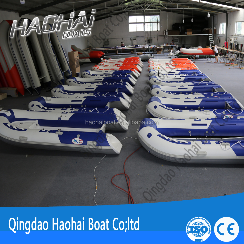 Korea 3.8m 7person aluminum floor inflatable fishing boats for sale