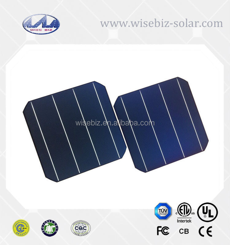 6''x6'' mono-crystalline solar cell supplier high efficiency raw solar cells
