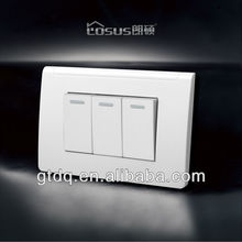 LOSUS 2013 Brazil electrical switch 118*73.5mm, 3 gang 1 way, F6004