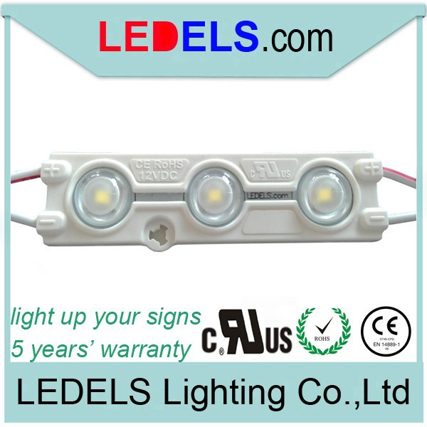 CE ROHS approved,UL listed,Powered by everlight SMD2835 led, 3leds module SMD 2835 waterproof led outdoor ul 12v