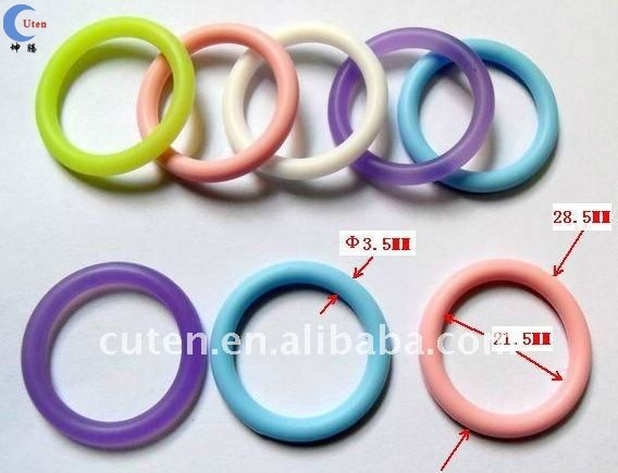 Colored Baby Adapter Cheap Silicone Rubber Bulk Napkin Ring