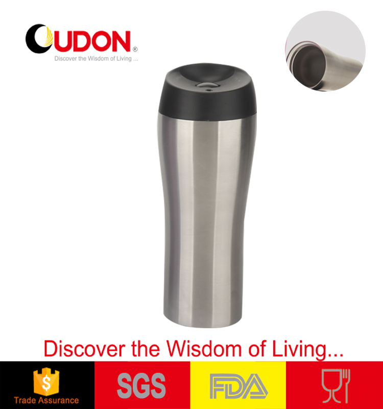 400ml vacuum travel mug, customized color and logo tumble