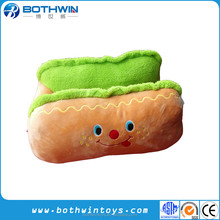 Creative design hot dog food shape soft plush cat dog pet house
