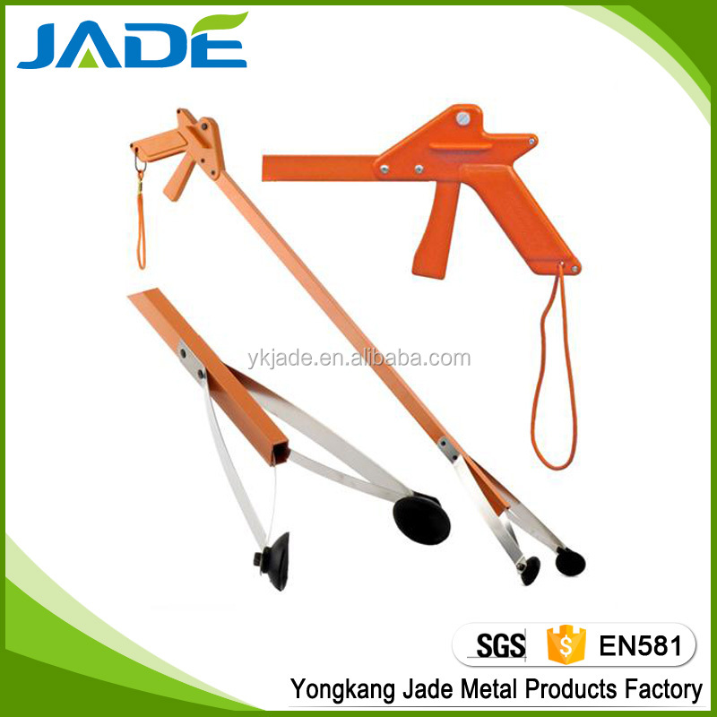 Garden reach tool grabber extension picker,kitchen alumium foldable Hand pick up tool picker