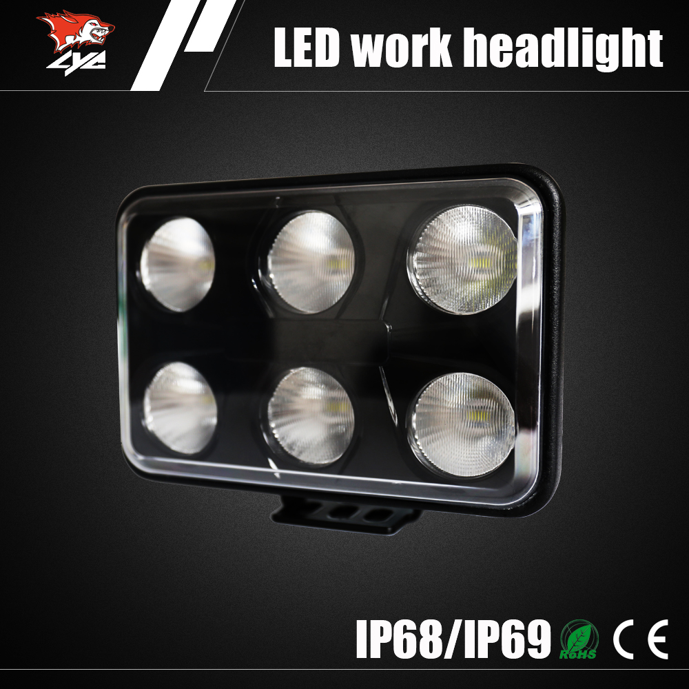 60w Super Bright LED work light 12v offroad 4x4 LED work lamp IP67 Automotive lighting LED head light for truck