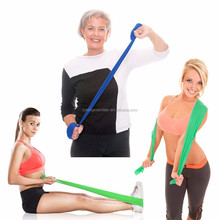 Exercise Band 5 ft. Long Resistance Bands. Flat Latex Home Gym Fitness Equipment For Physical Therapy, Stretch, Yoga