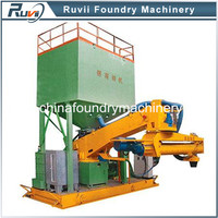 Portable foundry resin sand mixer in foundry, continuous sodium silicate sand mixing machine