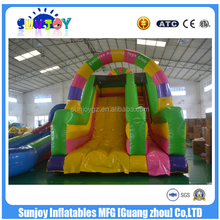 2016 sunjoy hot sale new design high quality gaint colorful Inflatable Slide amusing toys