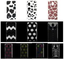 Black Prints Pattern Hard Plastic Case for Note 4 Samsung Galaxy SM-N910