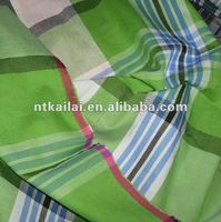 green white checked cotton fabric(KL120926)