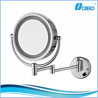 Wall mounted LED lighted makeup mirror