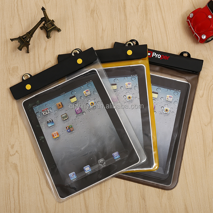 waterproof pvc bag for ipad mini waterproof case , large size waterproof bag for phone