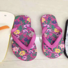 Women sexy colorful flat summer EVA bamboo flip flop wholesale