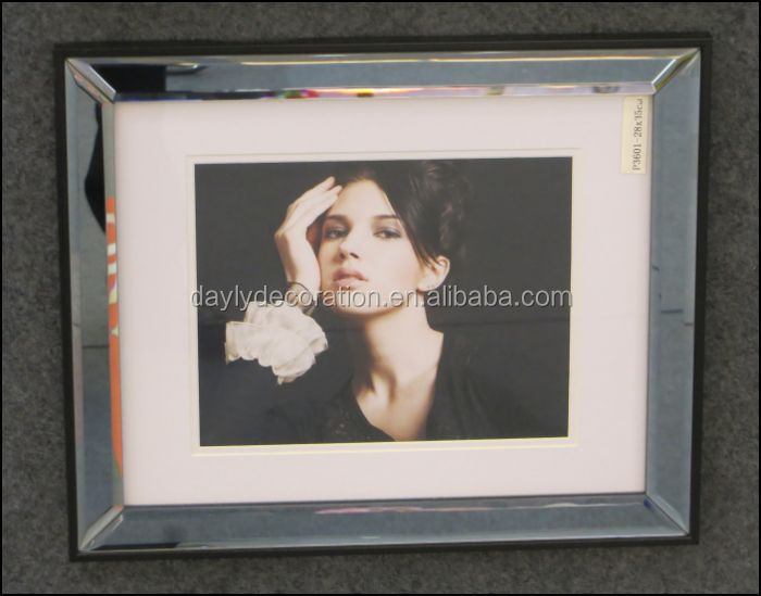High quality beautiful 28x35 mirror frame with mat open hot girl photo sexy women japan nude girl picture frame