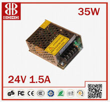 Mean Well 35W 24V Single Output Switching Power Supply/IP67 LED Driver/waterproof led driver/ 24vdc power supply