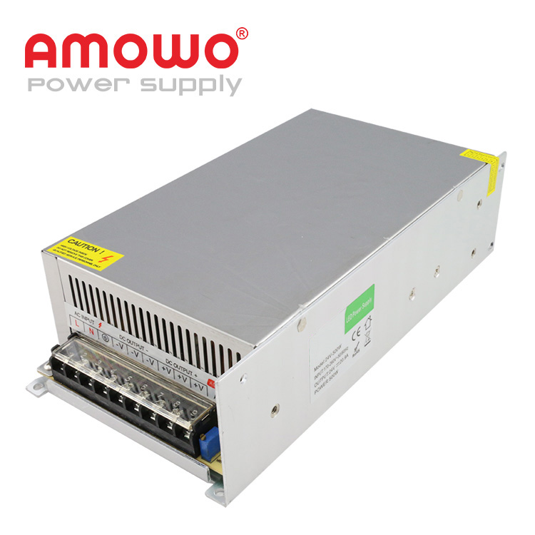 500W IP20 24v 30a 5a 5v dc power supply switching power supply