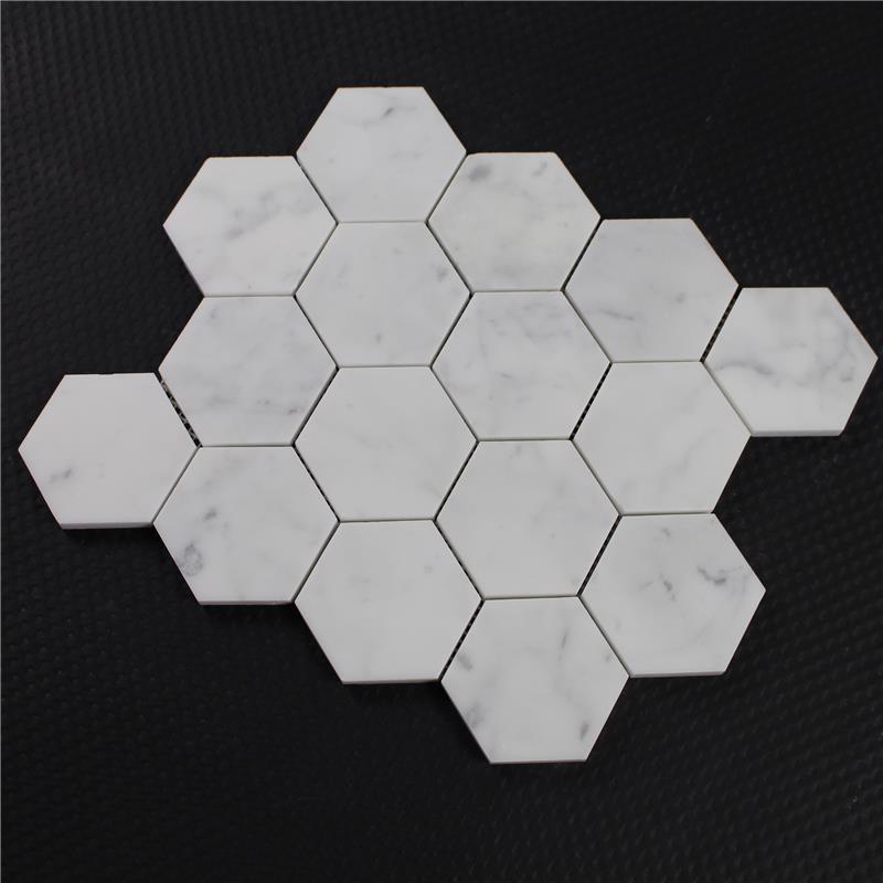 Prezzo poco costoso bianco carrara marmo pietra mosaico di esagono piastrelle mosaico id - Piastrelle a poco prezzo ...