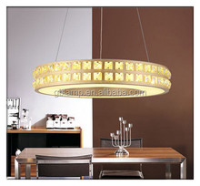 Round ceiling light globe, acrylic pendant lamp with crystal