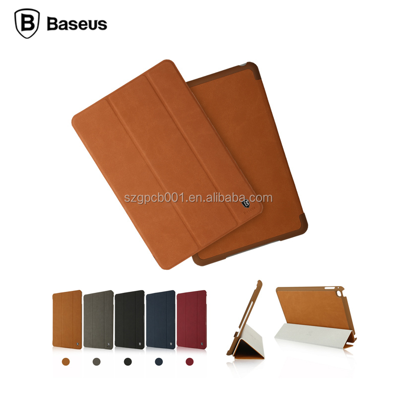 2016 NEWEST Original Baseus Terse Series Stand Intelligent Flip PU Leather Case for ipad mini 4 smart Case 7.9inch