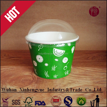 disposable Christmas ice cream paper bowl