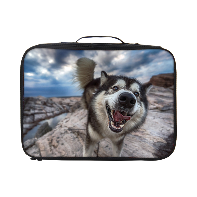 Wholesale Dog Pattern Custom Luggage <strong>Protective</strong> Cover Bag Cute Travel Duffel Bag China Supplier