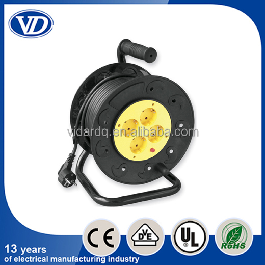 European type extension cable reel, cable reel socket VD-918C(25M) VD-918D(50M)