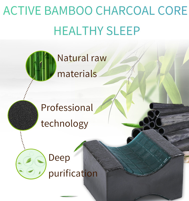 Orthopedic Bamboo Charcoal Cooling Gel Memory Foam Knee Wedge Rest Pillow